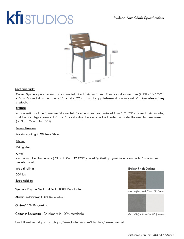 Eveleen Cafe<br />Product Sheet Brochure