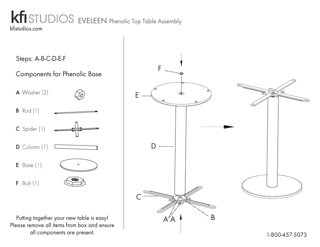 Eveleen Phenolic<br />Table Assembly Brochure